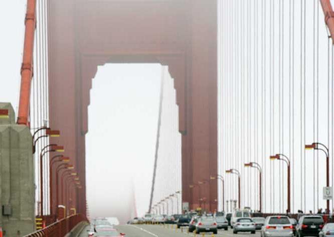 Golden Gate Bridge, connecting San Francisco and Marin County, California