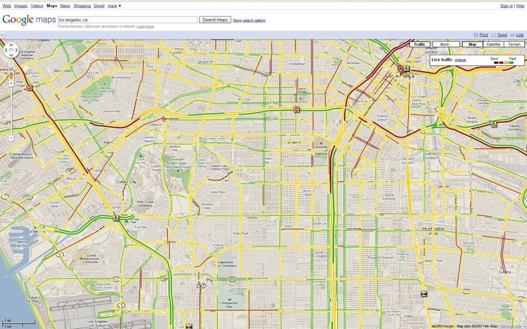 Google Maps traffic - Los Angeles