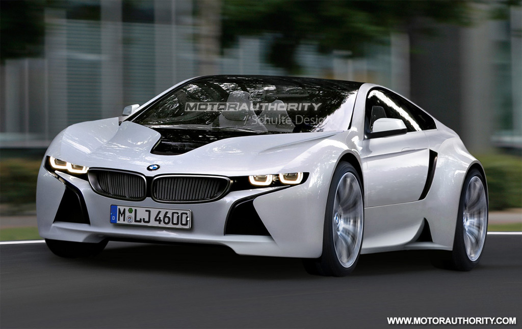 rendered bmw sports car based on vision efficientdynamics concept