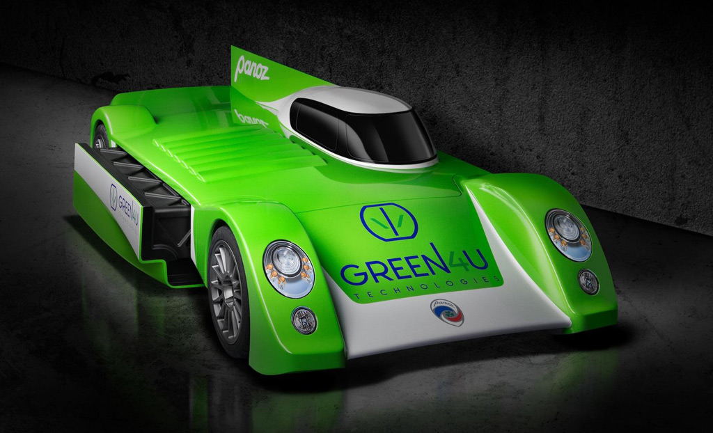 Green4U electric race car revealed; targets Le Mans, may spawn street-legal variant