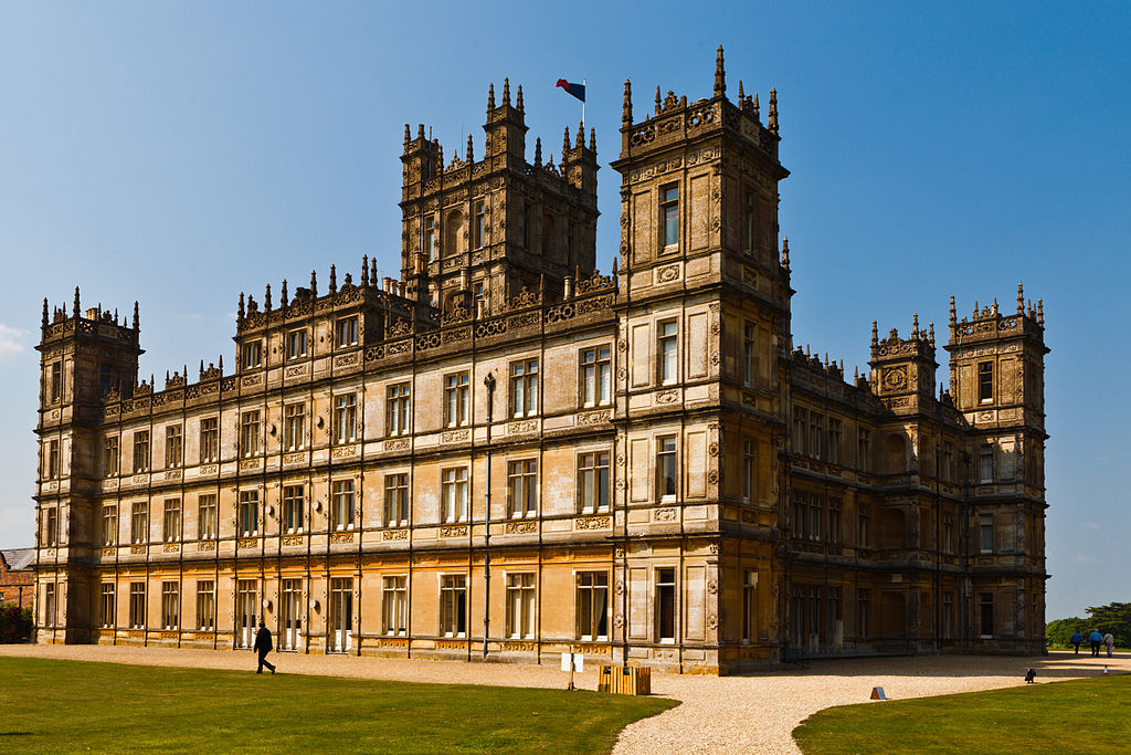 Highclere Castle, site of the TV series Downton Abbey (photo by Richard Munckton)