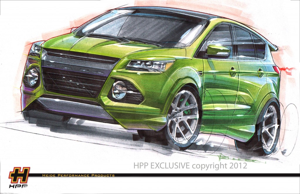 HPP's Ford Escape, built for the 2012 SEMA show