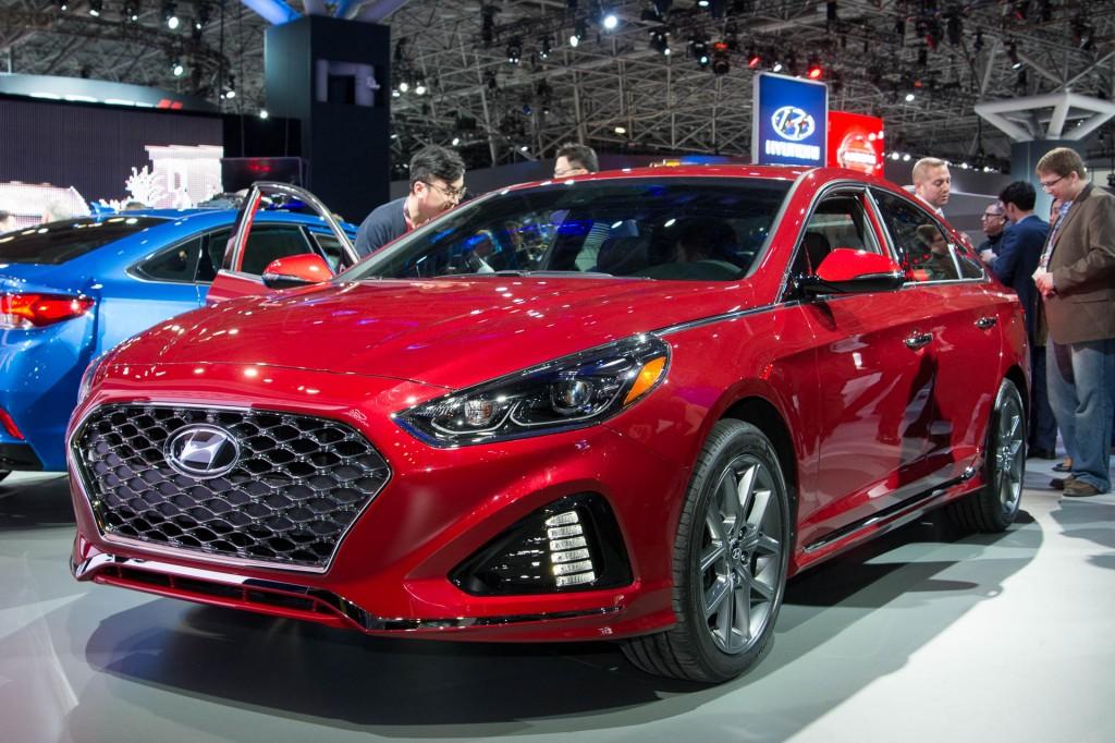 Hyundai Sonata Hybrid 2018 >> Image: 2018 Hyundai Sonata Sport 2.0T, 2017 New York auto ...