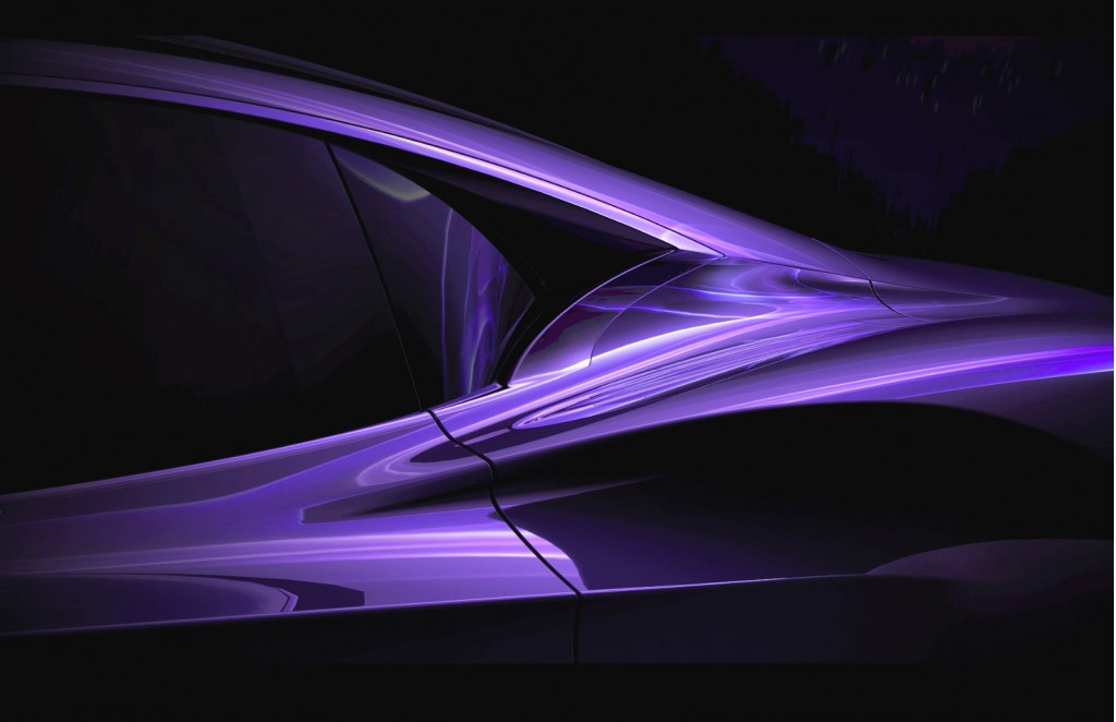 Infiniti electric sports car concept teaser