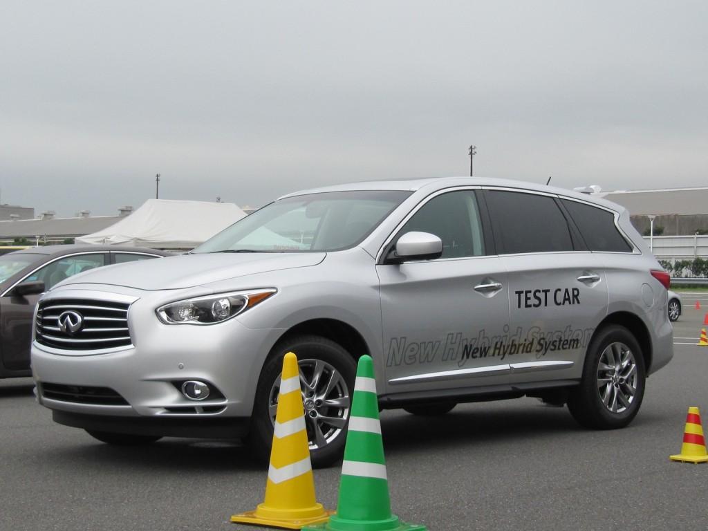 Infiniti JX Hybrid prototype, Nissan GranDrive test track, Oppama, Japan, Oct 2012