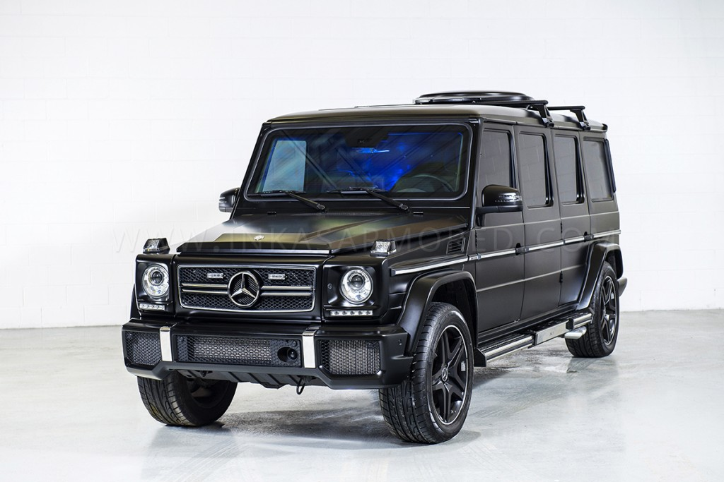 Image inkas armored mercedes benz g63 amg limousine size for Mercedes benz armored