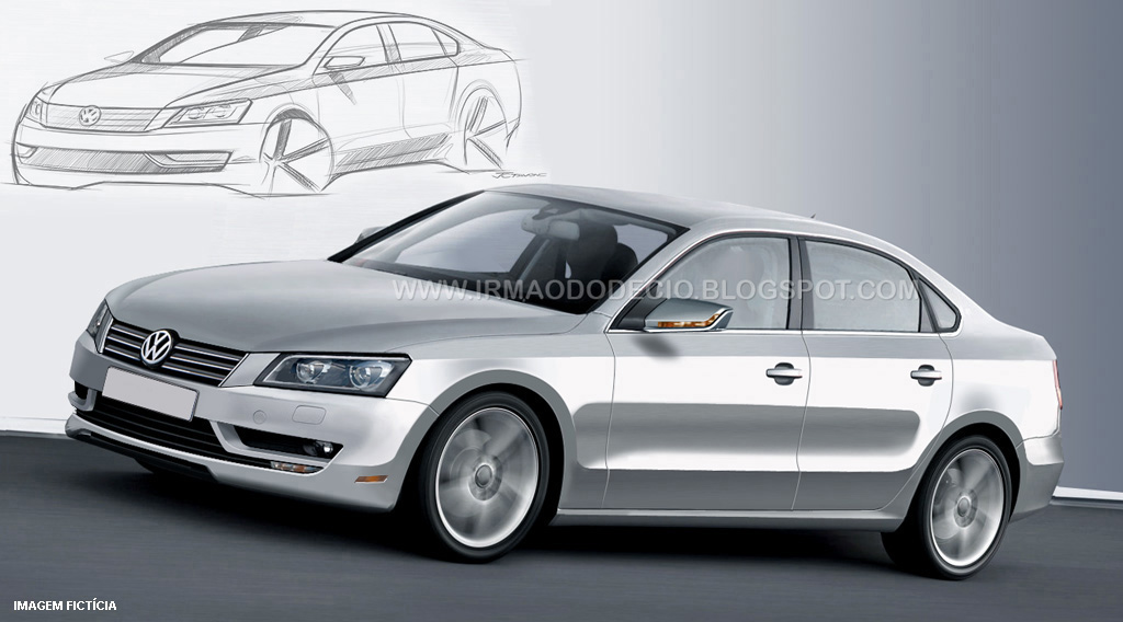 Irmao do Decio's preview rendering of the Volksagen New Midsize Sedan