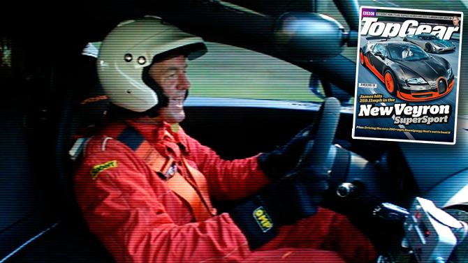 topgear s captain slow takes the bugatti veyron super sport to mph. Black Bedroom Furniture Sets. Home Design Ideas