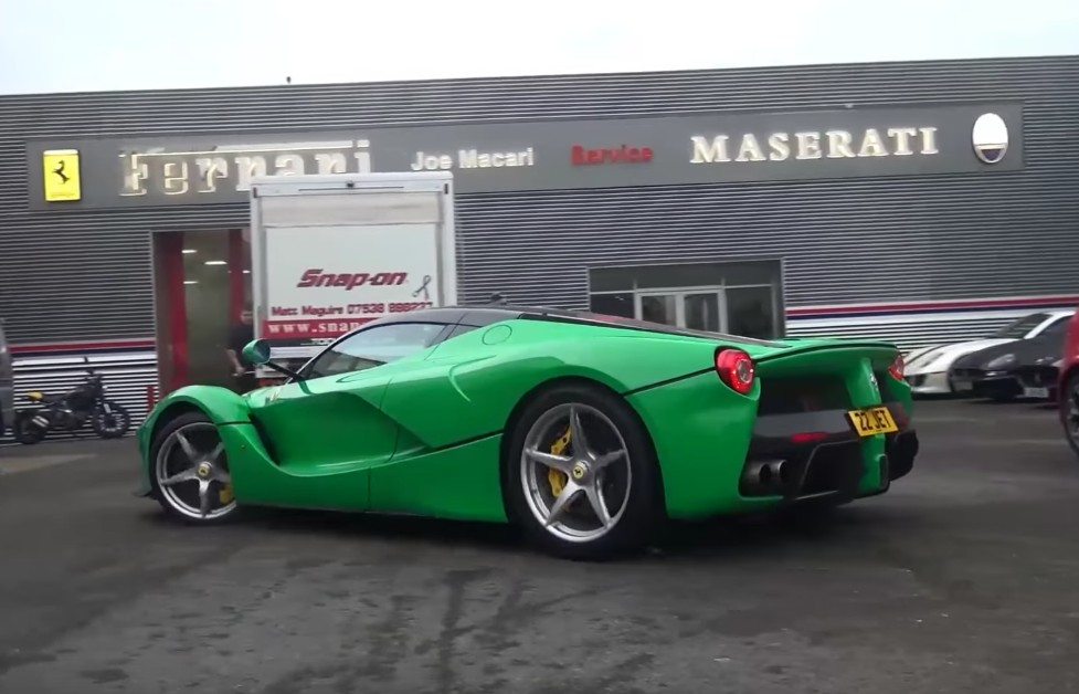 Jay Kay's green LaFerrari spotted running in full-electric mode