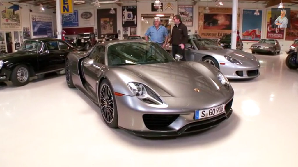 jay leno takes a second spin in the porsche 918 spyder video. Black Bedroom Furniture Sets. Home Design Ideas