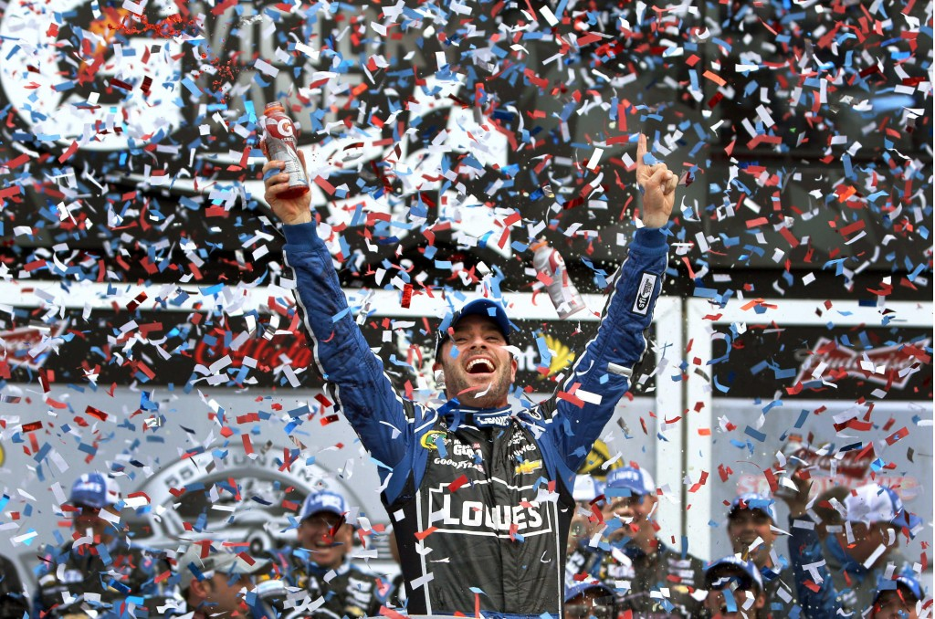 Jimmie Johnson, 2013 Daytona 500 winner - image: Christa L Thomas for Chevrolet