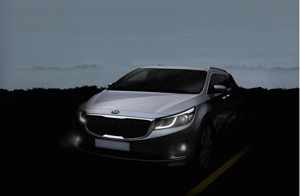 Kia MPV teaser, 2014 New York Auto Show