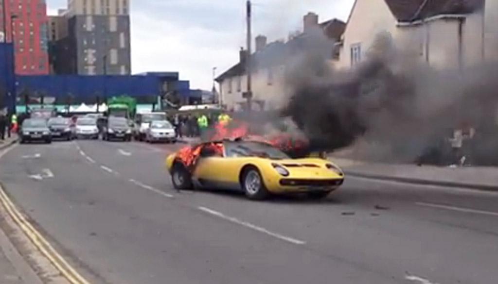 Lamborghini Miura SV Burns To The Ground In London