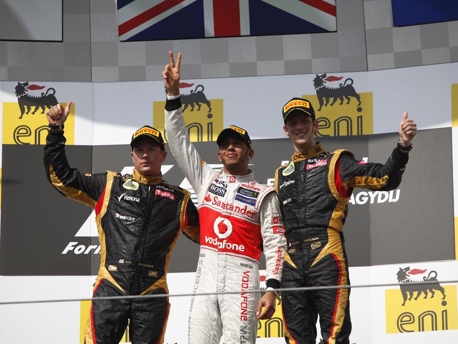 Lewis Hamilton took his second win of the season - Lotus photo