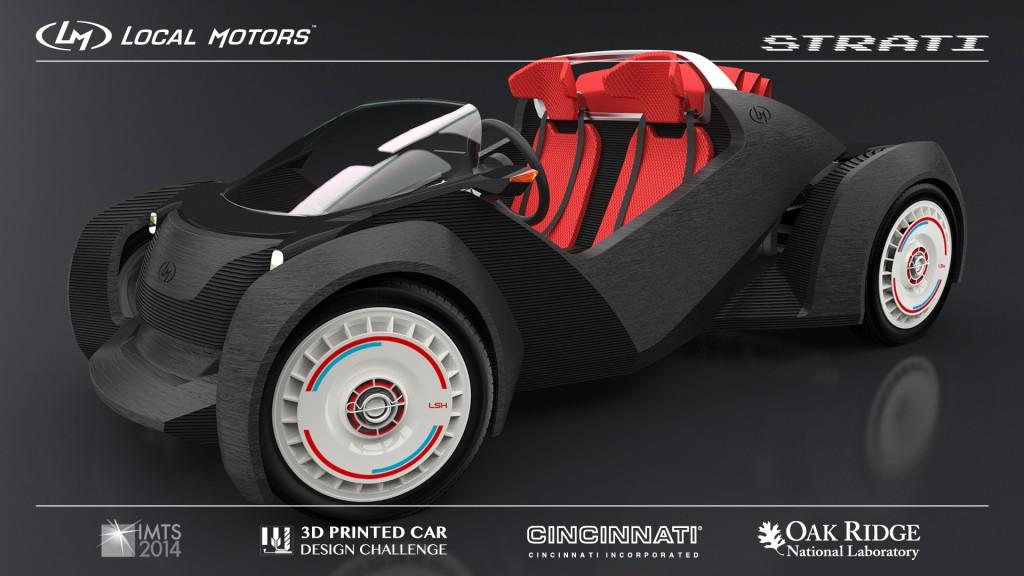 Local Motors Strati 3D-printed car concept