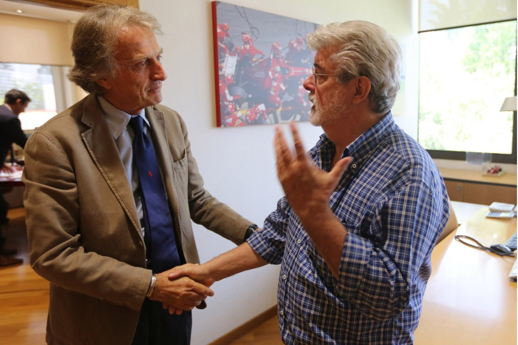 Luca di Montezemolo and George Lucas