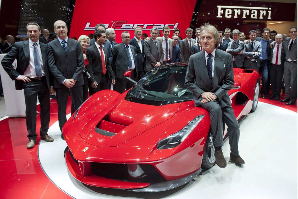 Luca di Montezemolo and the Ferrari LaFerrari