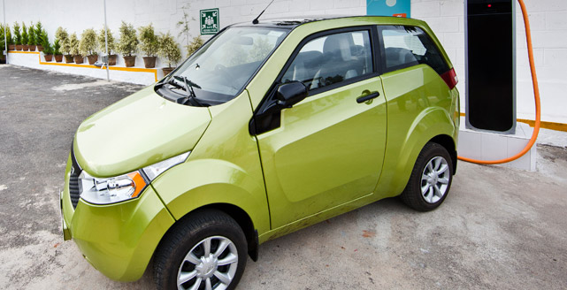 Mahindra Reva NXR electric car (Image: Mahindra)