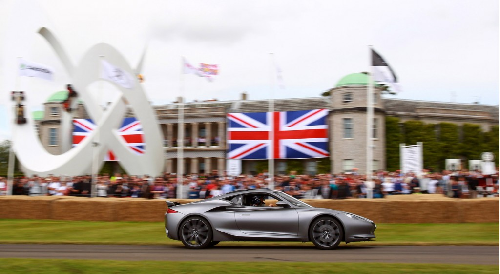 Mark Webber driving the Infiniti Emerg-E at the 2012 Goodwood Festival of Speed