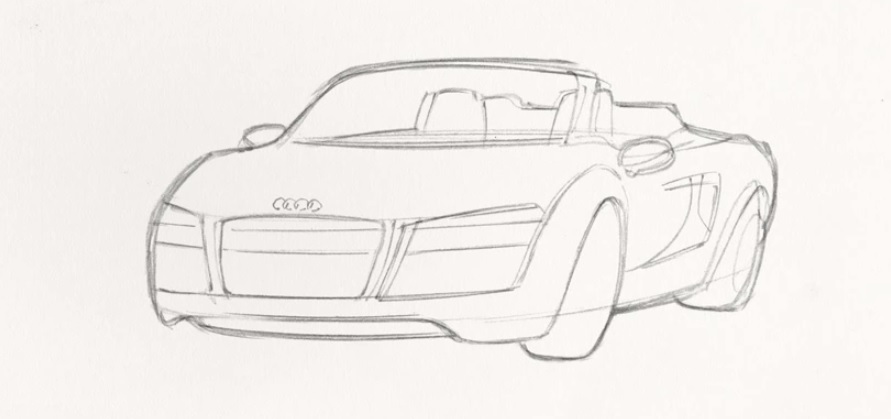 Marvel Comics shows how to draw the Audi R8