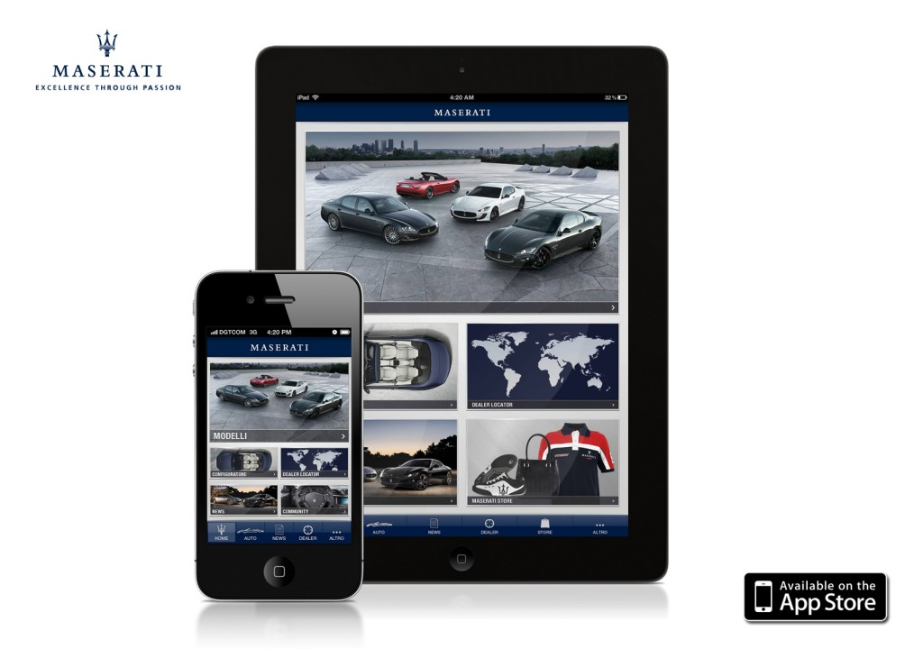 Maserati Passion app, for iPhone and iPad