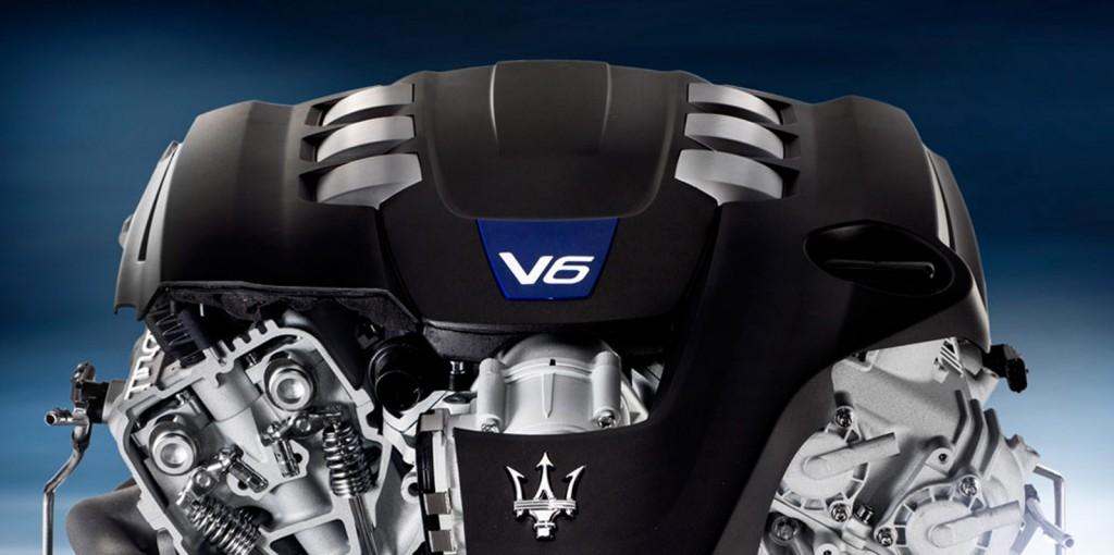 Maserati V-6 engine
