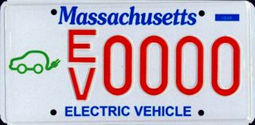 Massachusetts Electric Car Plate
