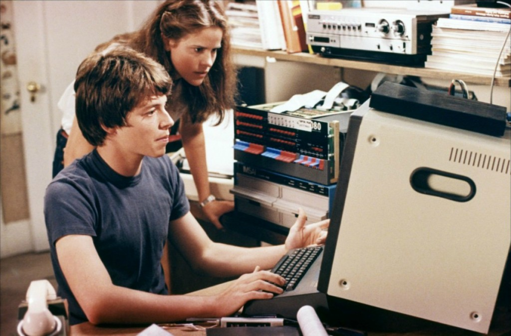 Matthew Broderick & Ally Sheedy in the 1983 hacking classic WAR GAMES