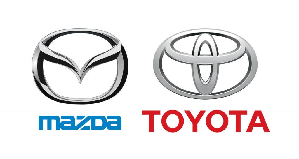 Mazda and Toyota logos