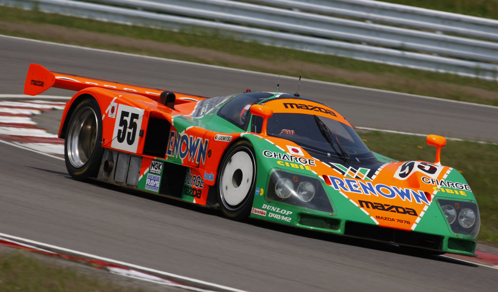 Mazda 787b Four Rotor Race Car Returning To Le Mans After