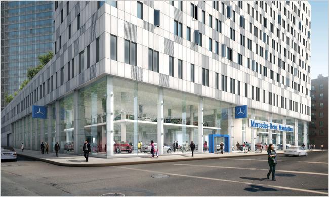Mercedes-Benz flagship dealership in Manhattan [via NewYorkTimes]