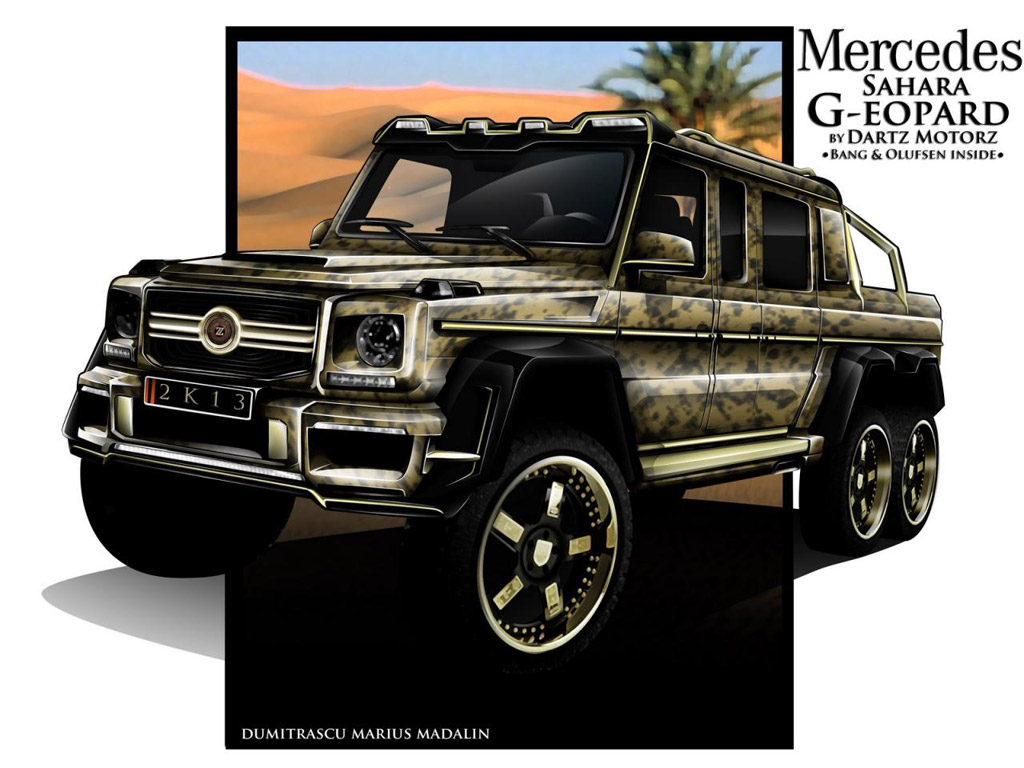 Dartz dreams up its own mercedes benz g63 amg 6x6 for Mercedes benz amg 6x6 price