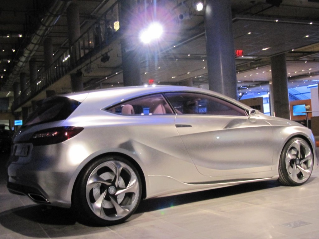 mercedes benz concept a class at new mercedes benz manhattan showroom. Cars Review. Best American Auto & Cars Review