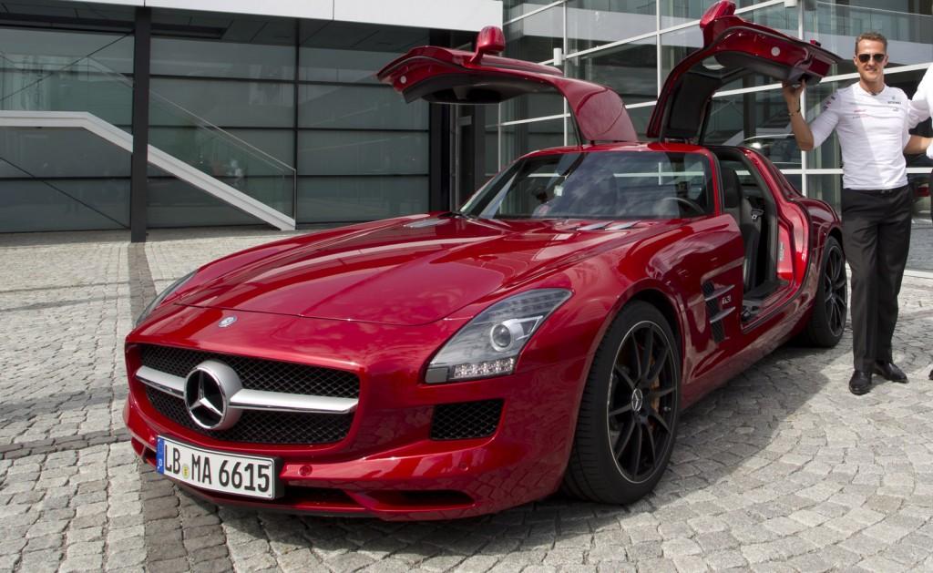Michael Schumacher and the Mercedes-Benz SLS AMG