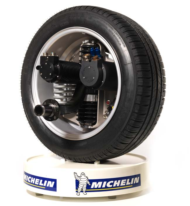 Michelin S Active Wheel Electric Motor System Begins