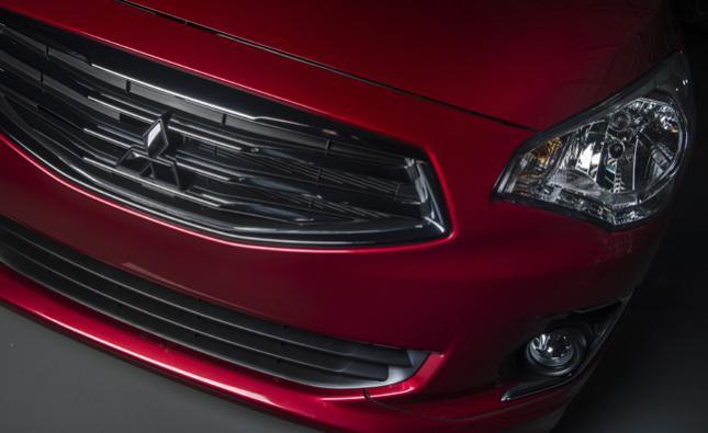 Mitsubishi Mirage G4 sedan teaser image.