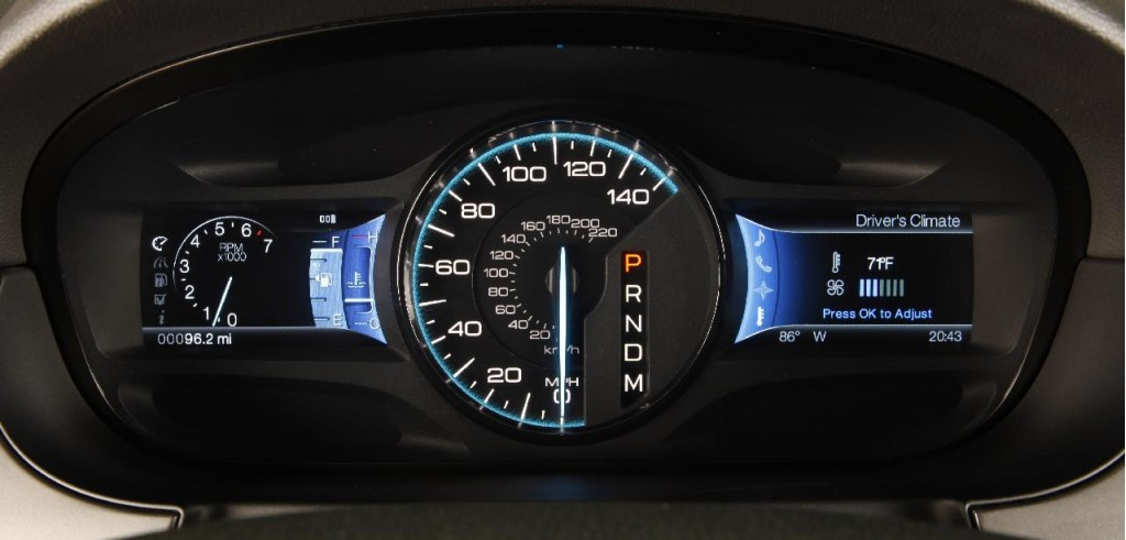 MyFordTouch instrument cluster screens shown on 2011 Ford Edge