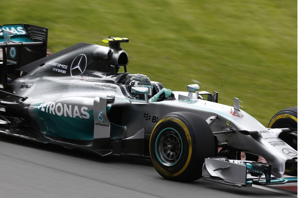 Nico Rosberg at the 2014 Formula One Canadian Grand Prix
