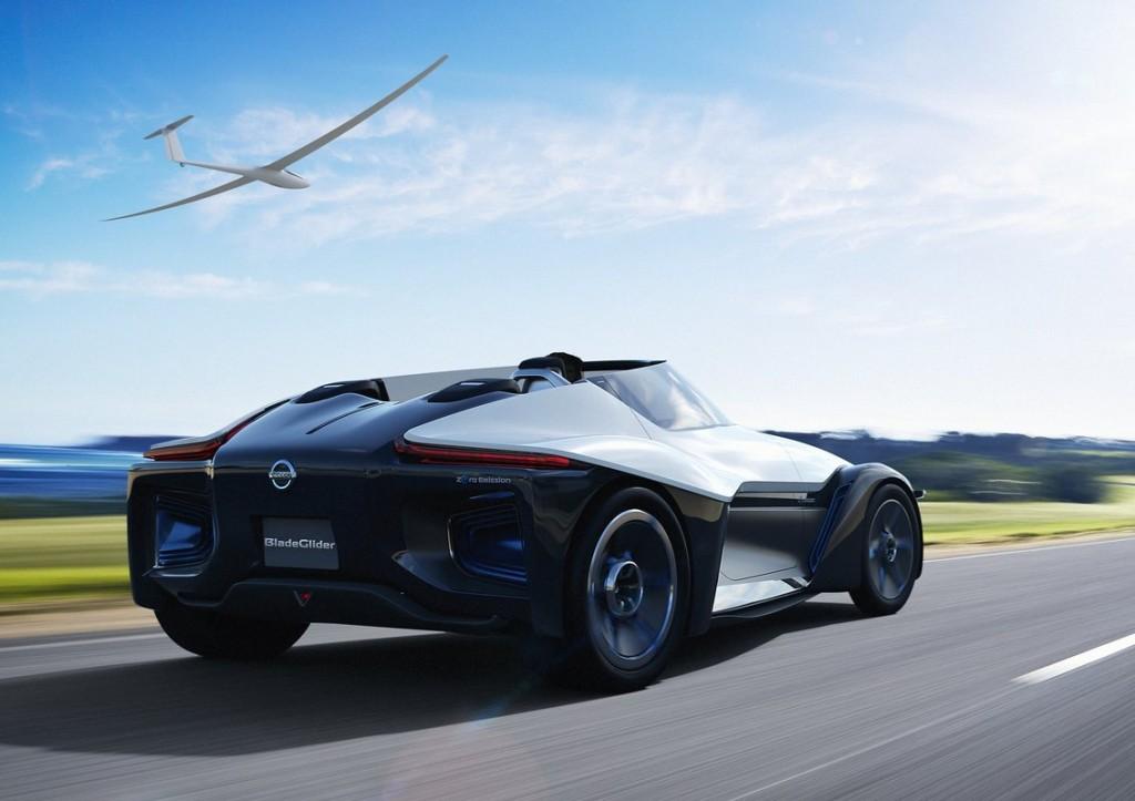 image nissan bladeglider electric sports car concept 2013 tokyo motor show size 1024 x 723. Black Bedroom Furniture Sets. Home Design Ideas