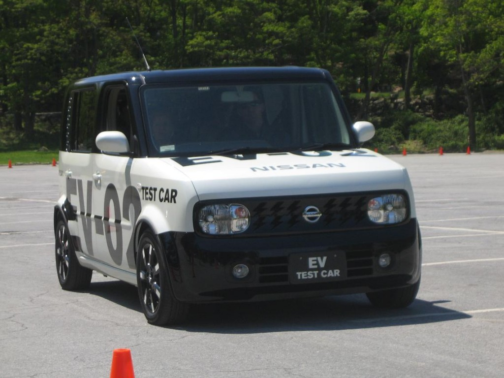 Nissan EV-02 prototype at speed