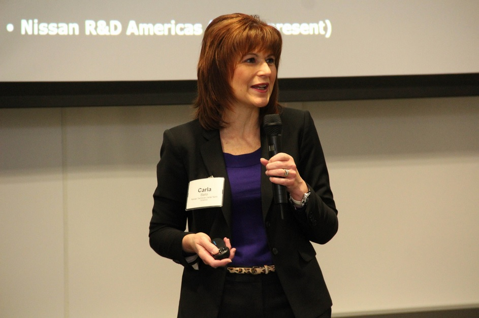 Nissan executive Carla Bailo, speaking at Detroit Regional Chamber of Commerce event [via Flickr]