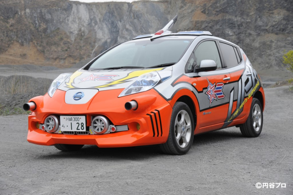 Nissan Leaf Electric Car Becomes Futuristic Attack Vehicle On Japanese TV Show (Video)