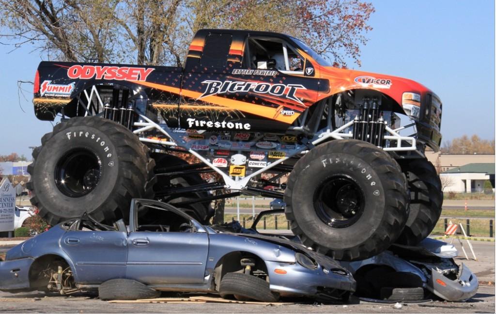 Odyssey Battery Bigfoot No. 20 Monster Truck -- world's first all-electric monster truck