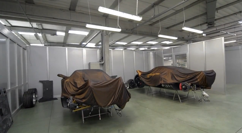 Pagani models under construction.