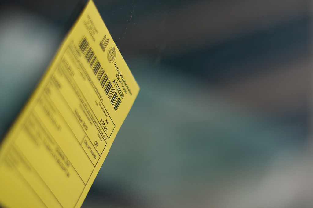 Parking ticket (via Flickr user Paul Henman)