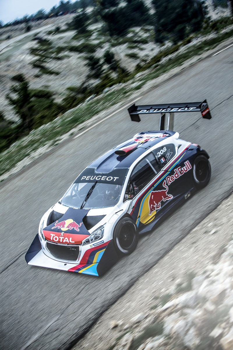 pikes peak record smashing peugeot 208 t16 headed to goodwood video. Black Bedroom Furniture Sets. Home Design Ideas