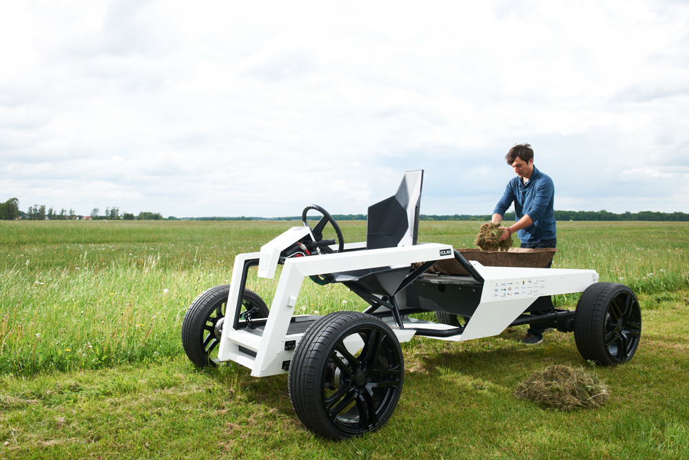 Kulan electric utility concept simple 39 donkey 39 vehicle for Simple electric motor car project