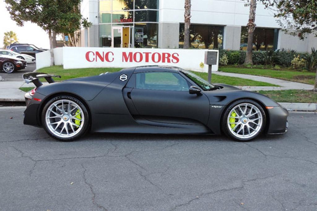 image porsche 918 spyder for sale at californian dealership cnc motors size. Black Bedroom Furniture Sets. Home Design Ideas
