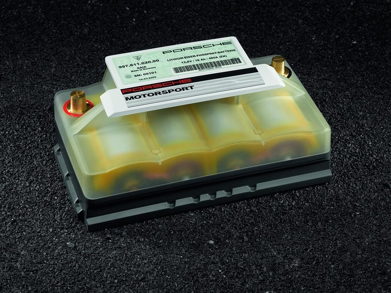 Porsche lightweight lithium-ion 12-Volt starter battery