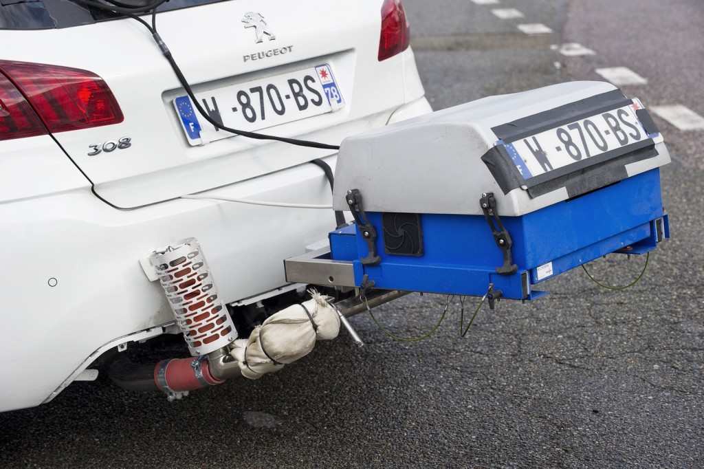 Portable Emissions Measurement Systems (PEMS) on a Peugeot 308